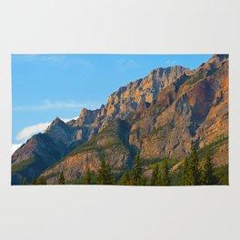 Mt. Kerkeslin in Jasper National Park Rug