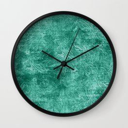 Lucite Green Oil Painting Color Accent Wall Clock