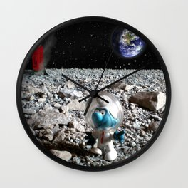 Smurf in the Moon Wall Clock
