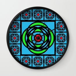 Arts & Crafts Mackintosh Rose Stained Glass Design Wall Clock