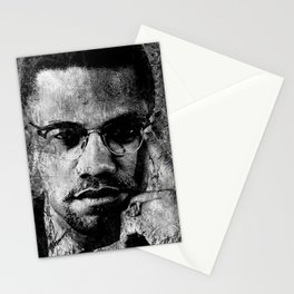 MALCOLM X (BLACK & WHITE VERSION) Stationery Cards