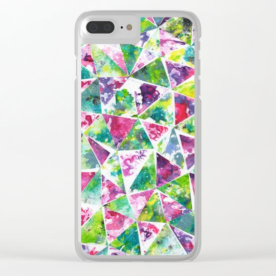 COLLAGE LOVE: Funky Triangles Clear iPhone Case