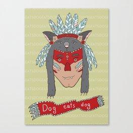 dog eats dog Canvas Print