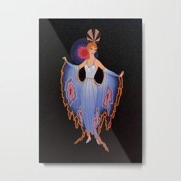 "Art Deco Illustration ""Twilight"" by Erté Metal Print"