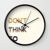 nope Wall Clocks featuring Nope.. by Eirin Wie Haveland