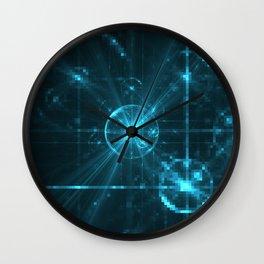 Cyber Pixel Punk Wall Clock