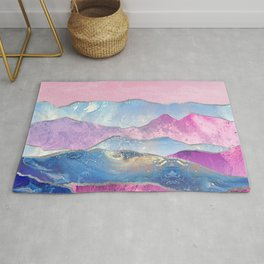 Abstract Mountain Landscape  Digital Art Rug