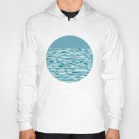 waves Hoodies featuring Waves by Anita Ivancenko
