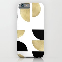 Yin Yang Geometric Glam #1 #minimal #decor #art #society6 iPhone Case