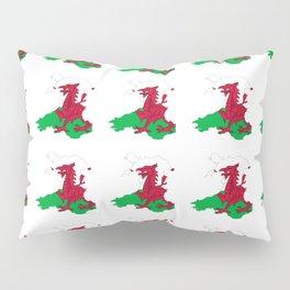 Flag of Wales 2 ,uk,great britain,dragon,cymru, welsh,celtic,cymry,cardiff,new port Pillow Sham