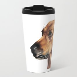 Dog Artwork in coloured pencil Travel Mug