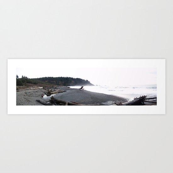 La Push Beach (Panoramic View) Art Print
