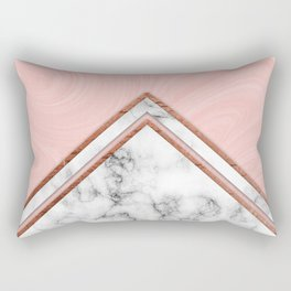 Pink and white marble Rectangular Pillow