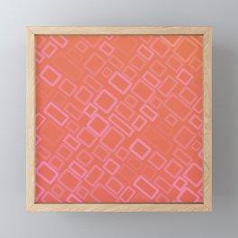 Retro pattern in shades of melon Framed Mini Art Print
