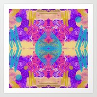 glitch Art Prints featuring GLITCH  by Vasare Nar