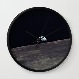 Earthrise Wall Clock