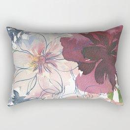 Blue Line Rectangular Pillow