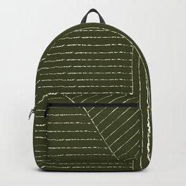 Lines (Olive Green) Backpack