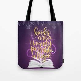 Books are a Uniquely Portable Magic Tote Bag