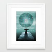 nordic Framed Art Prints featuring Nordic magician by Tony Vazquez