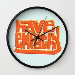 Blocky Have Empathy Wall Clock