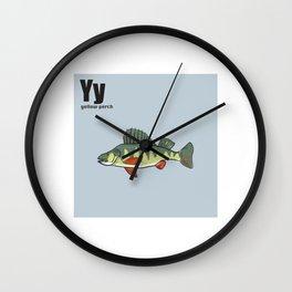 Yellow Perch Wall Clock