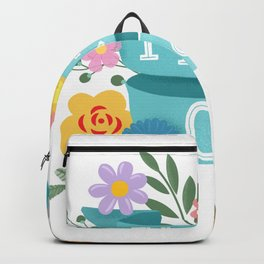Pretty Odd Floral Banner Backpack
