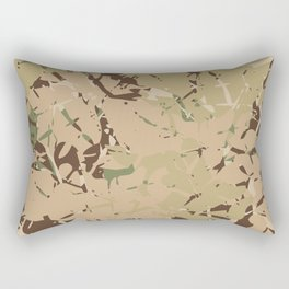 Camo pattern desert Rectangular Pillow