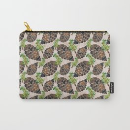 Watercolor Pine Cone Pattern Carry-All Pouch