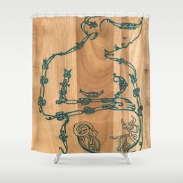 A Mother's Hope (Celtic knots zodiac) Shower Curtain