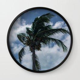 Windy Palm in Key West Wall Clock