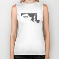 maryland Biker Tanks featuring Home: Maryland by LEIGH ANNE BRADER