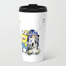 R2D2 vs Minion Travel Mug