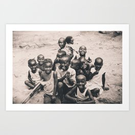 African children. Art Print