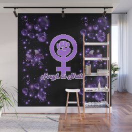 Tough As Nails - Purple Sparks and Butterflies Wall Mural