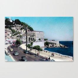 1950's Vintage Nice France Canvas Print