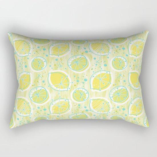 Atomic Lemonade_Green and Cerulean Rectangular Pillow