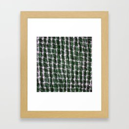 Macrame Square Knots: Green With Pink Accents Framed Art Print