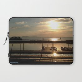 Lake Champlain Ferry to Burlington Vermont at Sunset Laptop Sleeve