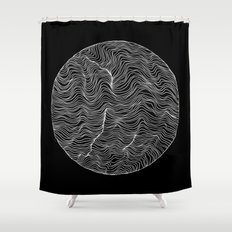 Inverted Waves Shower Curtain