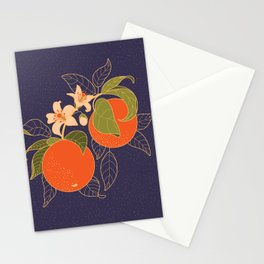 Orange Branch Stationery Cards