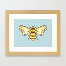 Bumblebee on Mint Framed Art Print