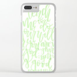 Psalm 143:10 Clear iPhone Case