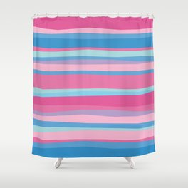 Funny Bright Summer Stripes Shower Curtain