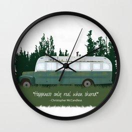 Into The Wild - Magic Bus Wall Clock