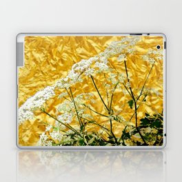 GOLDEN LACE FLOWERS FROM SOCIETY6 BY SHARLESART. Laptop & iPad Skin