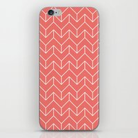 chevron iPhone & iPod Skins featuring Chevron by Dizzy Moments