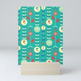 Happy modern floral decoration Mini Art Print