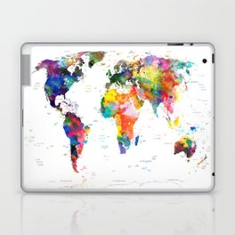world map political watercolor 2 Laptop & iPad Skin