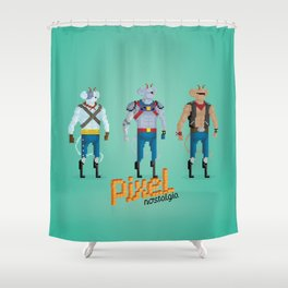Biker Mice from Mars - Pixel Nostalgia Shower Curtain